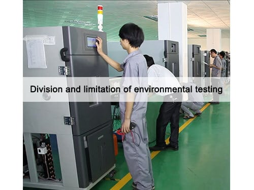 Division and limitation of environmental testing dgbell