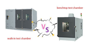 The difference between the walk-in test chamber and benchtop test chamber